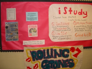This month's bulletin board.