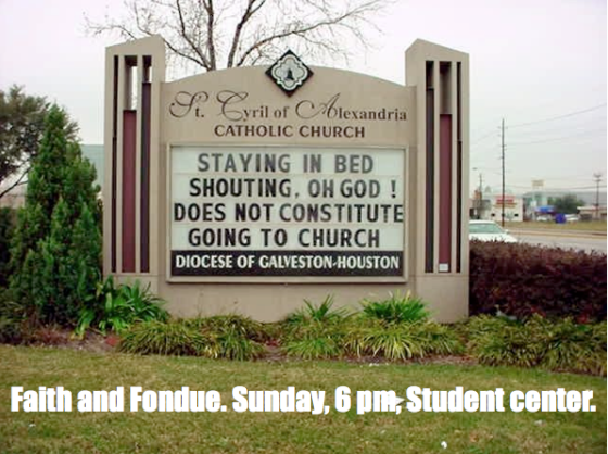 Faith and Fondue ad.